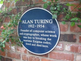 Alan Turing plaque at Hollymede