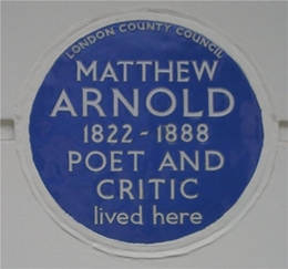 Matthew Arnold Blue Plaque