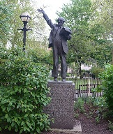 Statue of Fenner Brockway in Red Lion Square